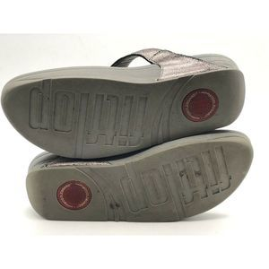 FitFlop Shoes - FitFlop Womens Lunetta Flip Flop Sandals Bronze